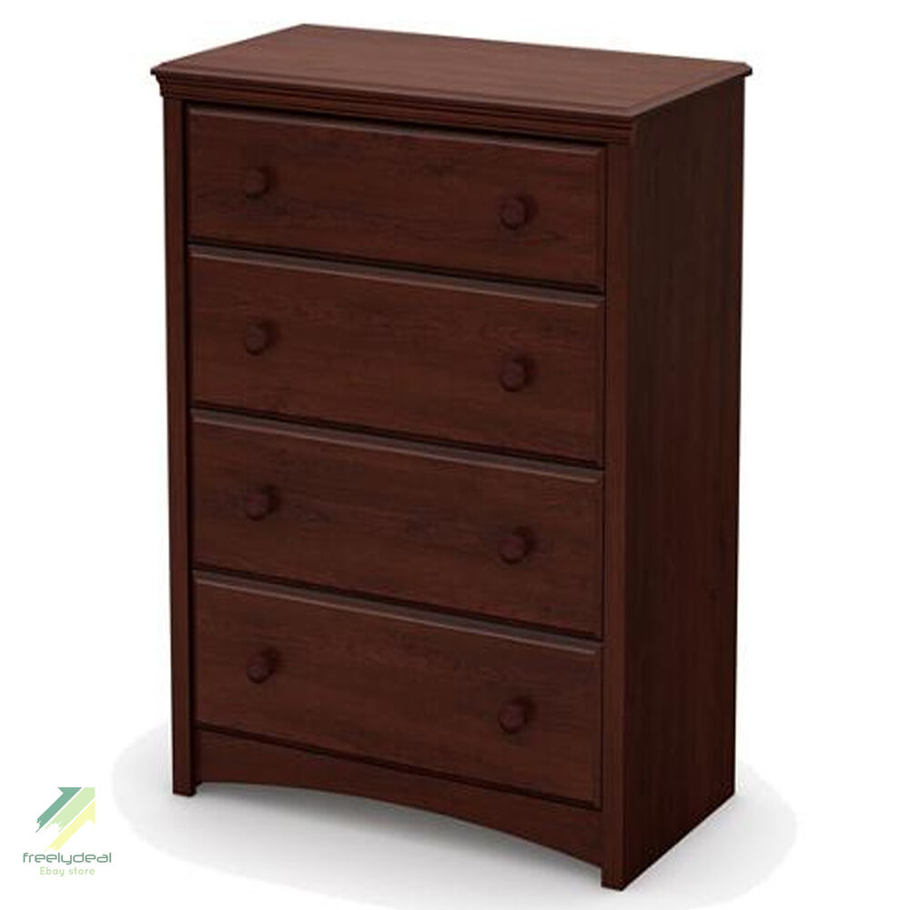 Chest of Drawers Brown Wood Finish Bedroom Clothes Storage