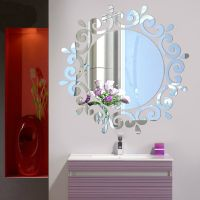 Mirror Floral Wall Stickers Art Decal Mural Removable Home ...