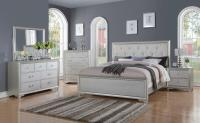 Chic Modern RB508 White Tufted 5pc Queen Size Contemporary ...