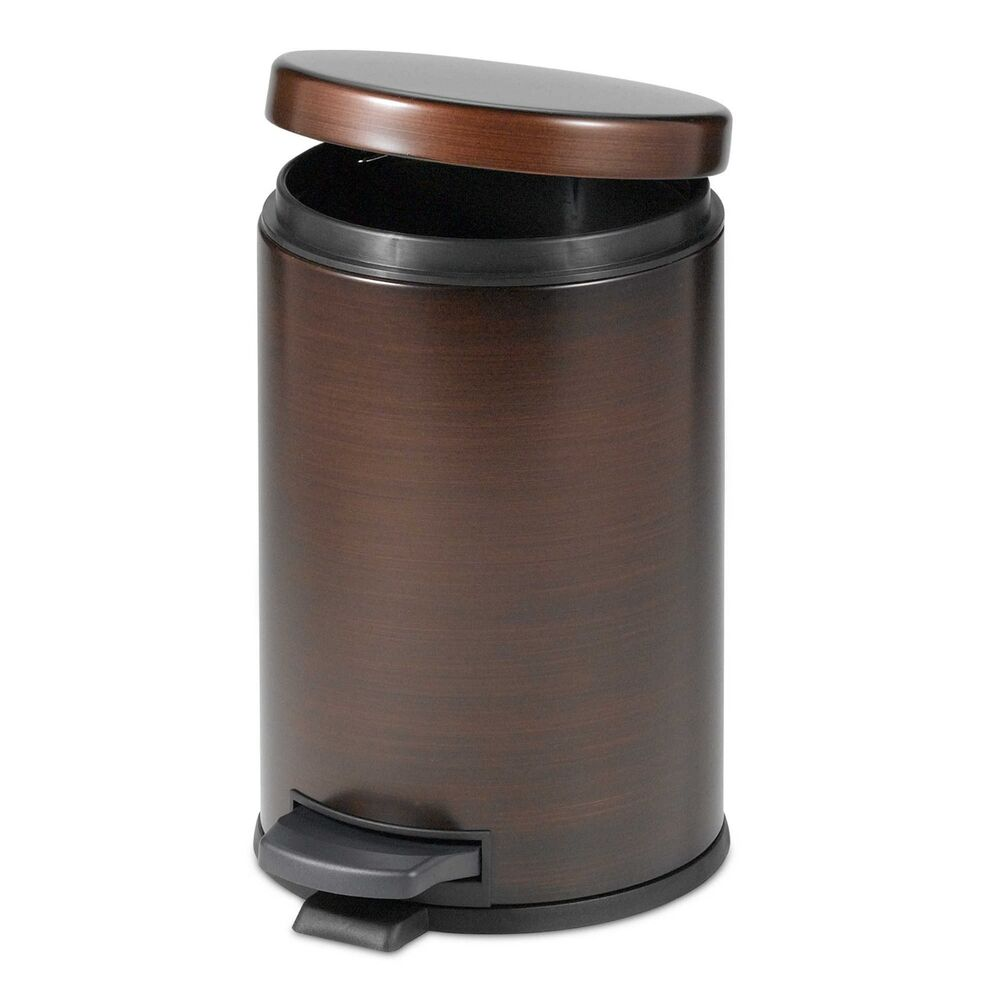 Oil Rubbed Bronze Touchless Trash Can, Step On Wastebasket