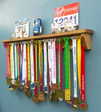 Medal Hanger/Holder/Trophy Shelf -gift for runners ...