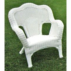 Wicker Reclining Patio Chair Stool With Footrest International Caravan Camelback Resin Chairs (set Of 2), White | Ebay