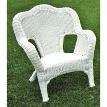White Resin Wicker Patio Chairs