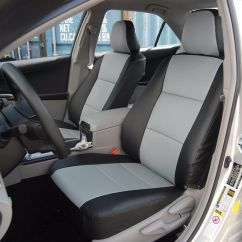 Leather Chair Covers To Buy Cane Barrel Makeover Toyota Camry 2012-2016 Black/grey Iggee S.leather Custom Fit Front Seat Cover | Ebay