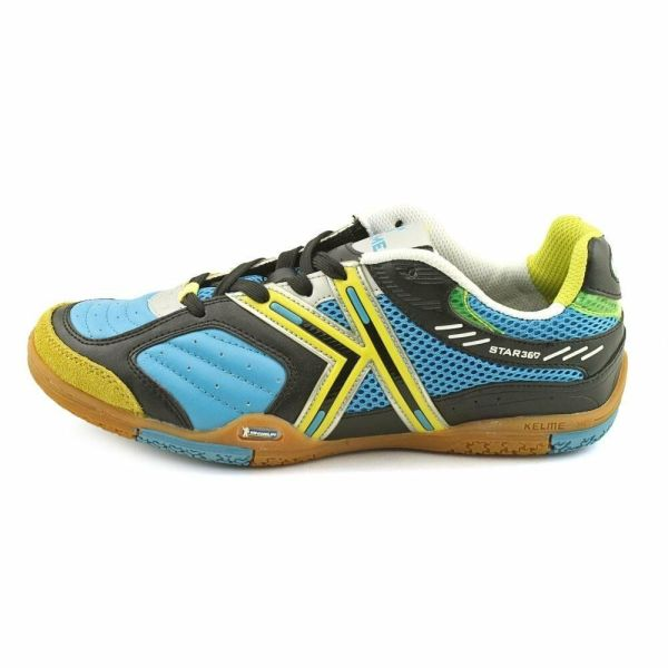 Kelme Star 360 Michelin Mens Leather Indoor Soccer Shoes Turquoise