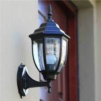Outdoor Sconce Wall Lantern Outside Light Security Black