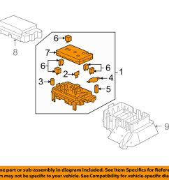 details about buick gm oem 05 06 rainier electrical fuse relay box 15141559 [ 1000 x 798 Pixel ]
