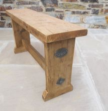 Hand Pine Reclaimed Wooden Bench Seat Kitchen
