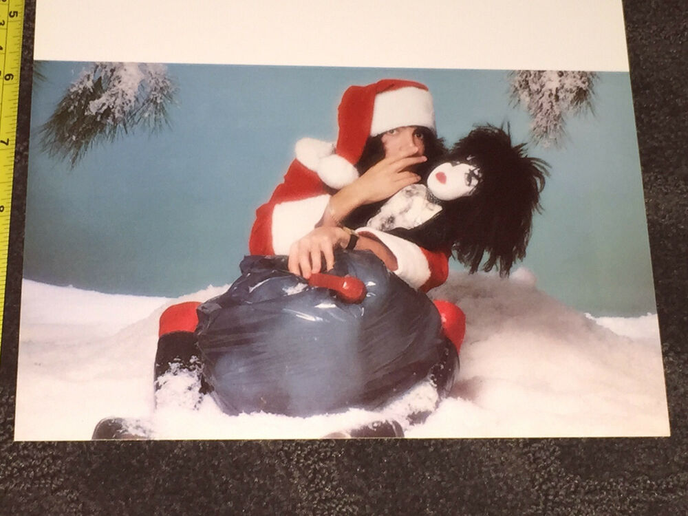 KISS Paul Stanley Christmas Card From 1977 Gene Simmons
