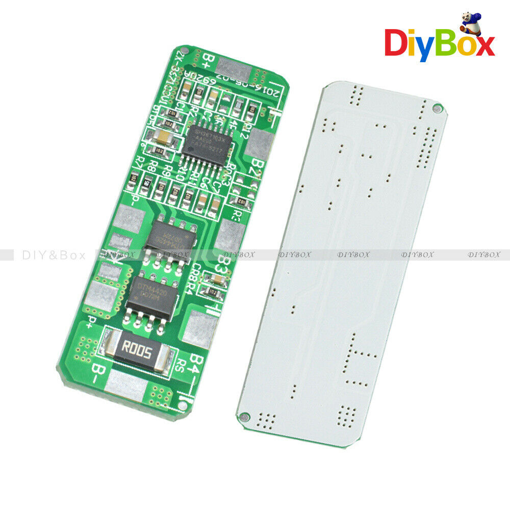 4s bms wiring diagram atomic symbol 4a-5a pcb protection board for 4 packs 18650 li-ion lithium battery cell | ebay
