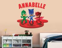 Personalized PJ Masks Wall Decal (Removable and ...