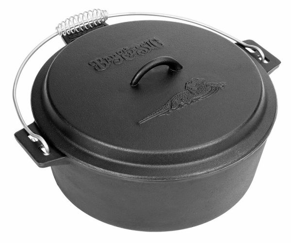 Bayou Classic 10-qt. Cast Ironchicken Fryer Dutch Oven Lid 7410