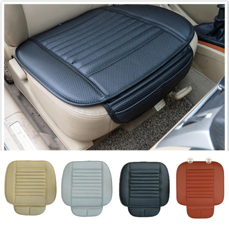 leather chair covers ebay lawn chairs folding breathable pu bamboo car seat cover pad mat for auto cushion  