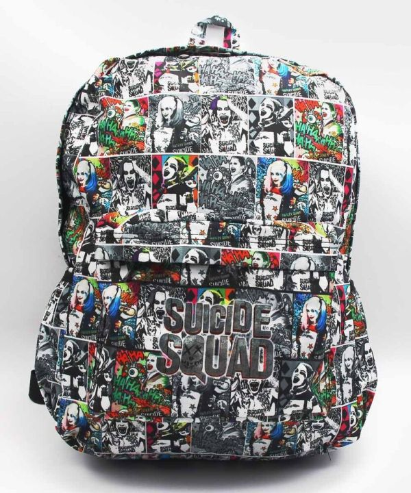 Suicide Squad Harley Quinn Joker School Laptop Bag Bookbag
