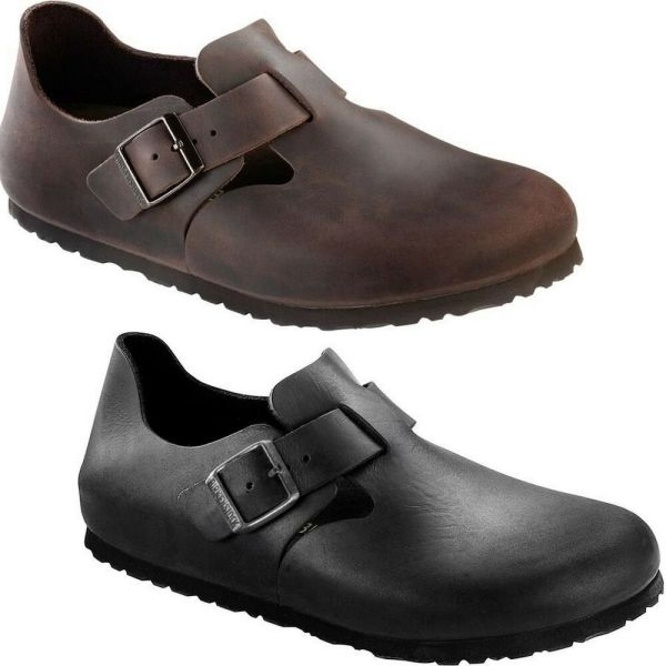 Birkenstock Shoes London Habana Black Oiled Leather Original Men' Women' Clog
