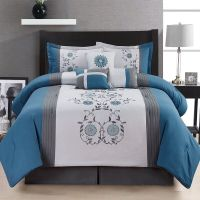 7 Piece Comforter Set Queen Size Bedroom Bedding Bed in a