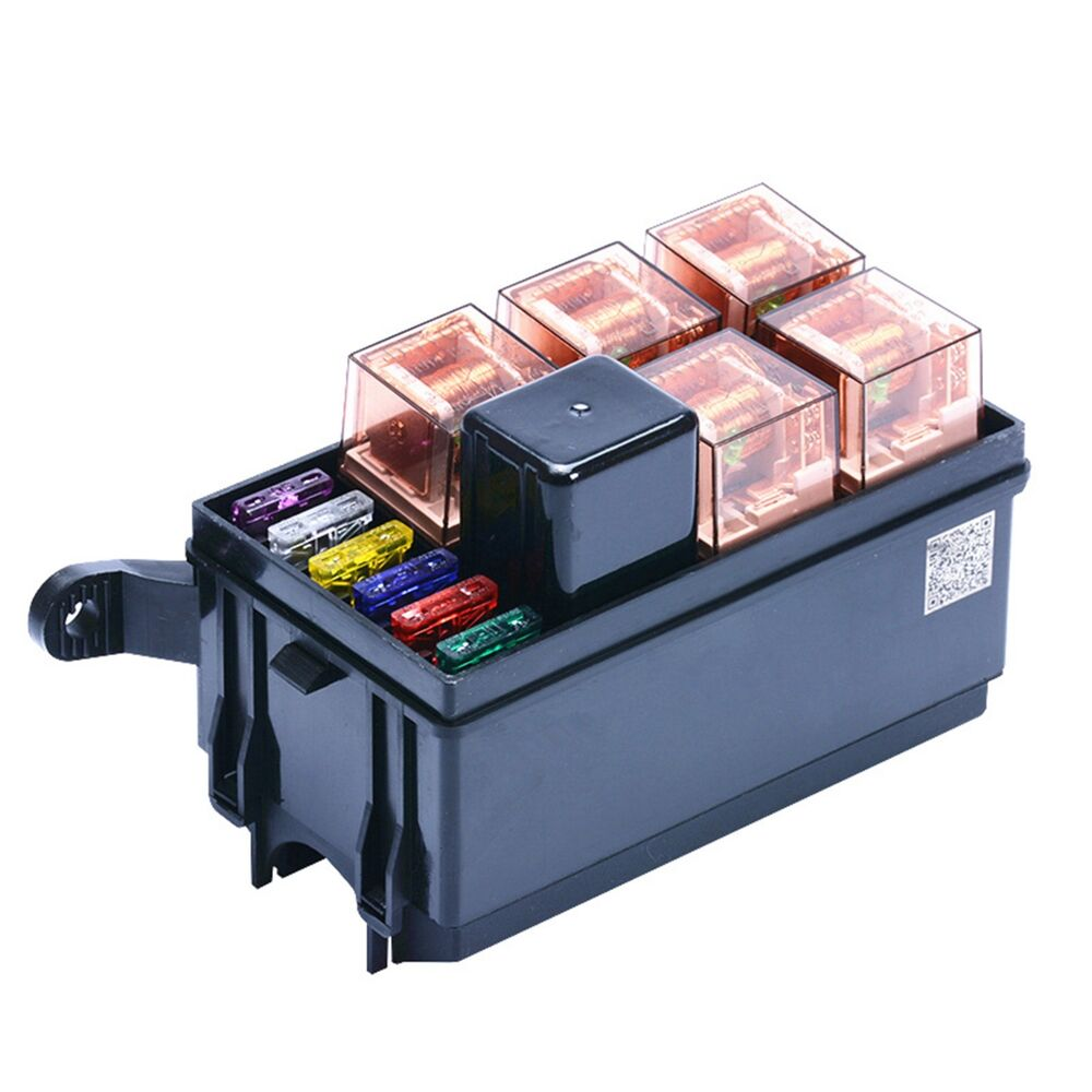 New 1pc 6 Way Auto Fuse Box Assembly With 40a 5pin 40a