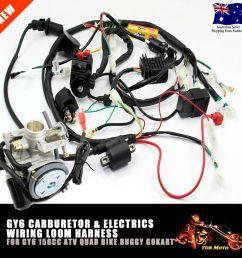 carby carburetor electric engine wiring harness for gy6 150cc quad atv ebay [ 1000 x 1000 Pixel ]