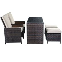 Outdoor Wicker Patio Chairs with Ottomans
