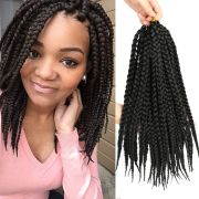 black pretwist 3x box braids 14""