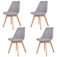 Set Of 4 Mid Century Modern Eames Style Dining Side Chair ...