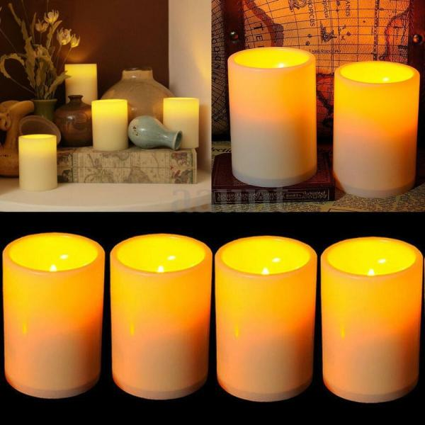 Battery Operated Flickering Flameless Candles