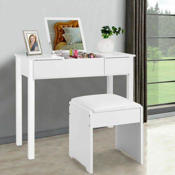 White Dressing Table Vanity Set