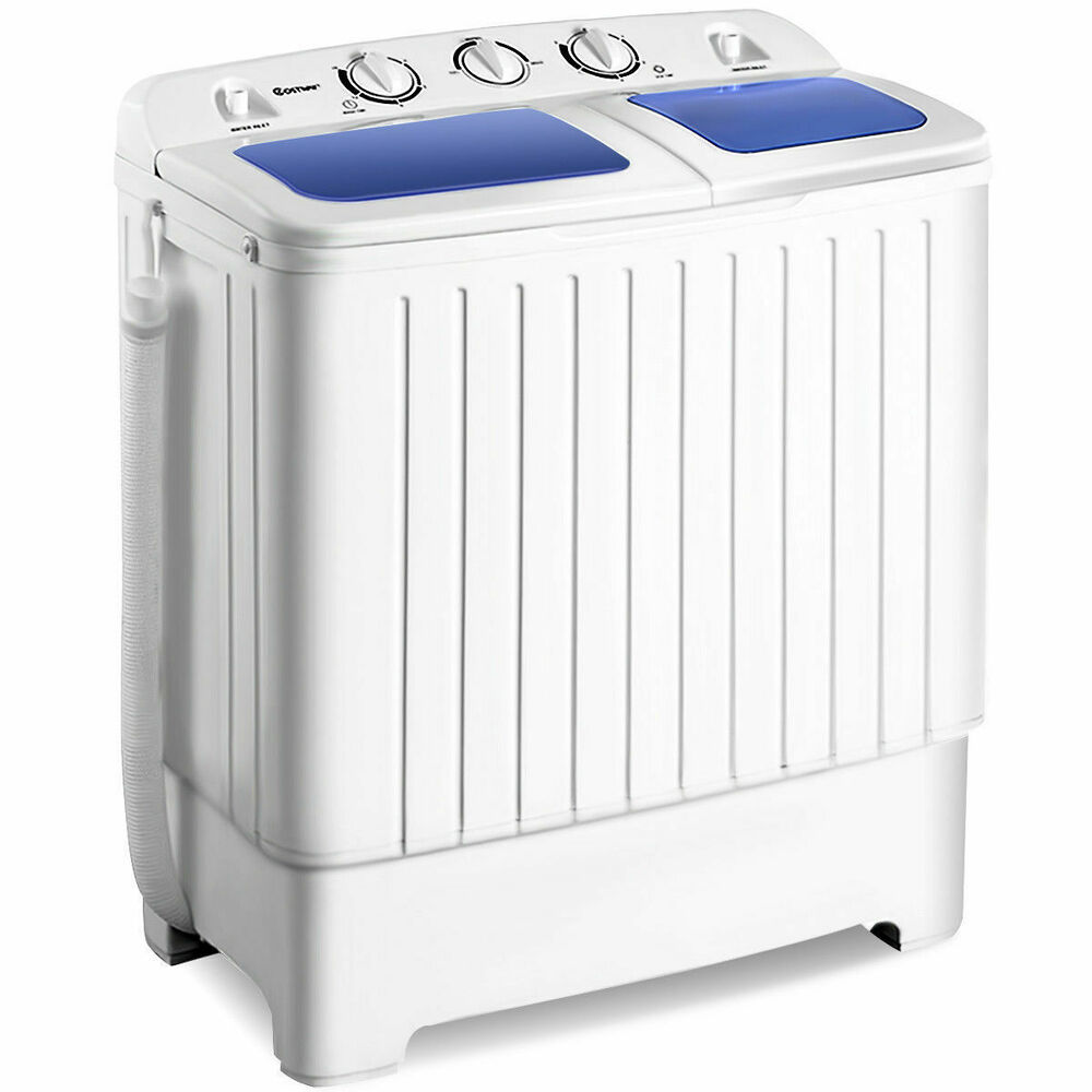 Portable Mini Compact Twin Tub 11lb Washing Machine Washer Spin Dryer New  eBay
