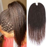 """ombre brown braiding hair 18"""" 30roots pack"""