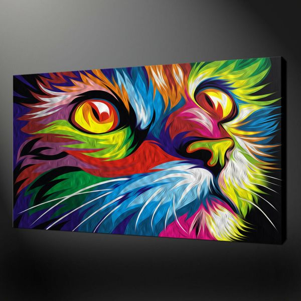 Abstract Cat Wall Art Canvas Print Variety Of