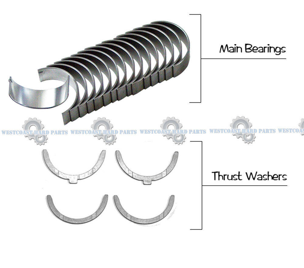 medium resolution of details about 94 06 toyota camry avalon sienna 3 0l 1mzfe main engine bearings washer set