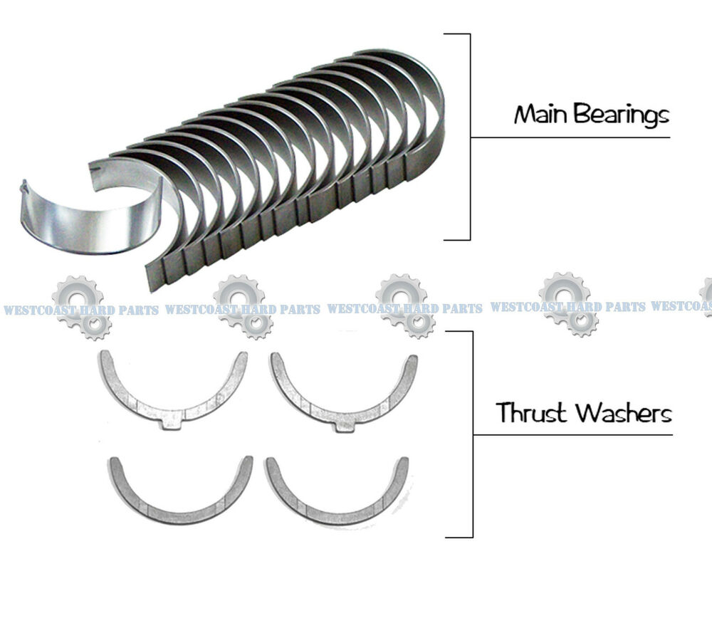 hight resolution of details about 94 06 toyota camry avalon sienna 3 0l 1mzfe main engine bearings washer set