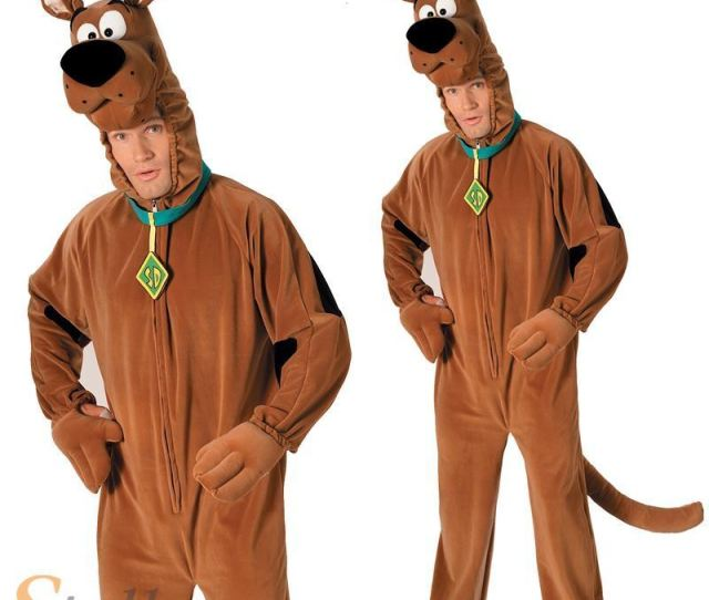Scooby Doo Costume Mens Licensed Cartoon Halloween Fancy Dress Adult Outfit Ebay