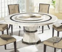 American Eagle DT-H38 Beige Marble Top Round Dining Table ...