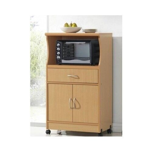 kitchen island portable restoration microwave cart with storage stand rolling cabinet ...