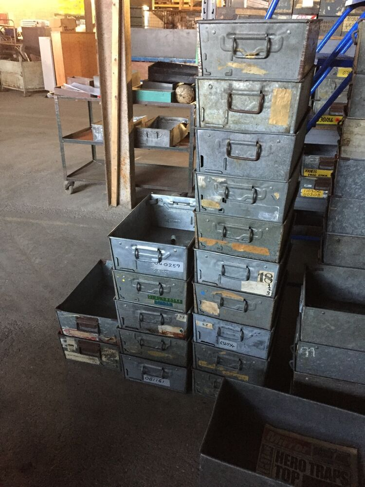 GALVANISED TOTE PANS  METAL STORAGE BINS  TRAYS