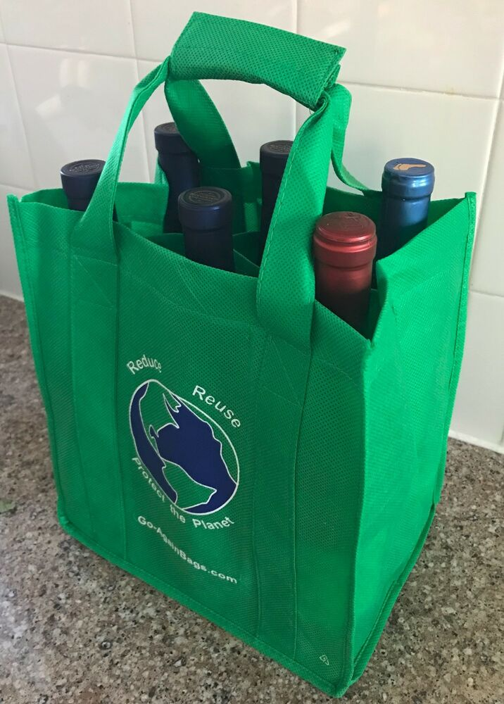 Reusable 6Bottle Wine Bag  2 Pack of Bags  eBay