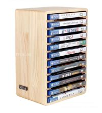 Real Wood Consoles Games DVD Storage Stand Wooden Rack