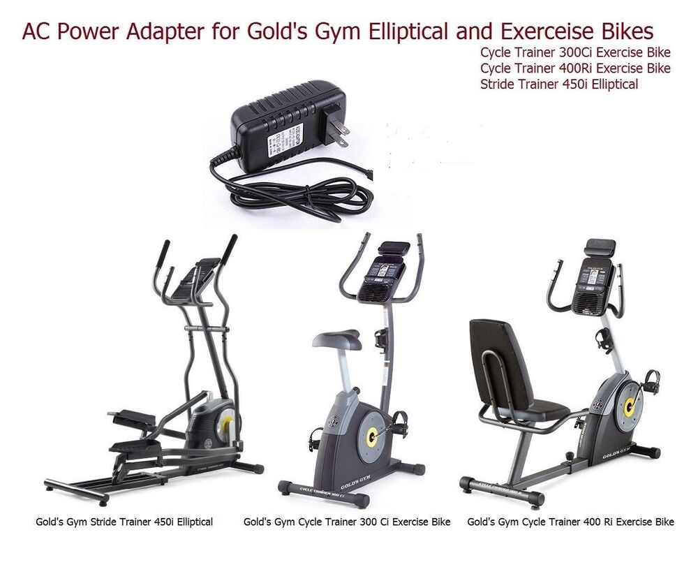 AC Power Supply Adapter for Gold's Gym Elliptical & Cycle