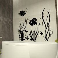 Fish sea plants bubbly Art Quote Wall Stickers Art ...