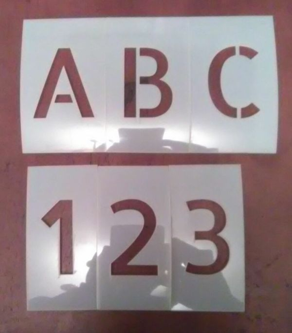 1 Allerta Uppercase Alphabet And Numbers Set Stencil