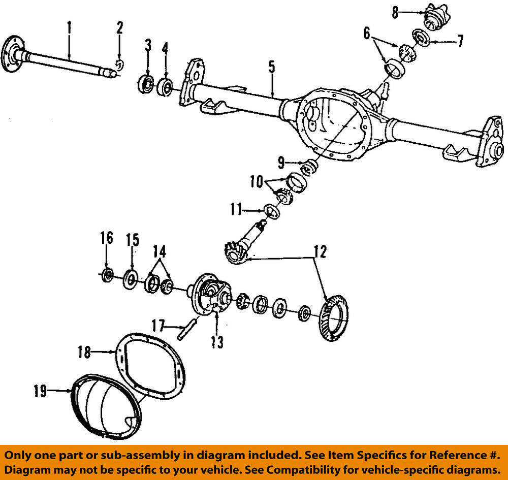 medium resolution of details about gm oem rear axle seals 26011061
