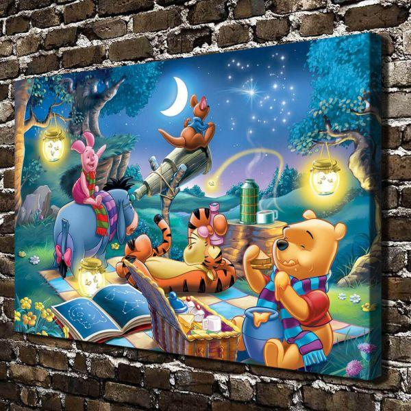 Disney Winnie Pooh Paintings Hd Print Canvas Home