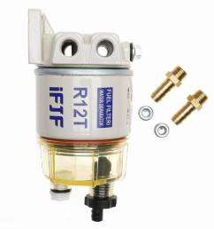 details about with fuel fittings marine spin on fuel filter water separator r12t for racor [ 1000 x 1000 Pixel ]