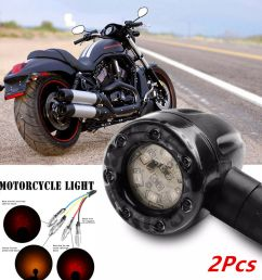 details about 2 colors led amber turn signal lights indicators rear brake lamp for motorcycle [ 1000 x 1000 Pixel ]