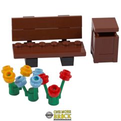Sofa Table Ebay Seats Lego Bench Bin & Flowers - Park / Seat New |