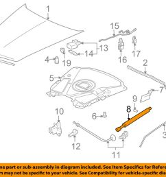 details about cadillac gm oem 04 09 xlr hood lift support strut shock prop arm 10446862 [ 1000 x 798 Pixel ]