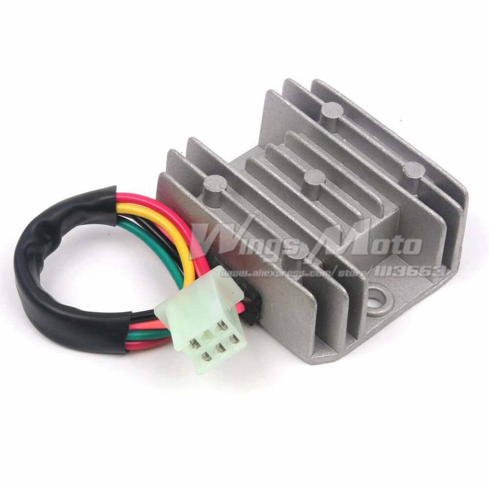 medium resolution of 5 wires 12v voltage regulator rectifier motorcycle dirt bike atv gy6 voltage regulator wiper motor dirt bike voltage regulator wiring diagrams