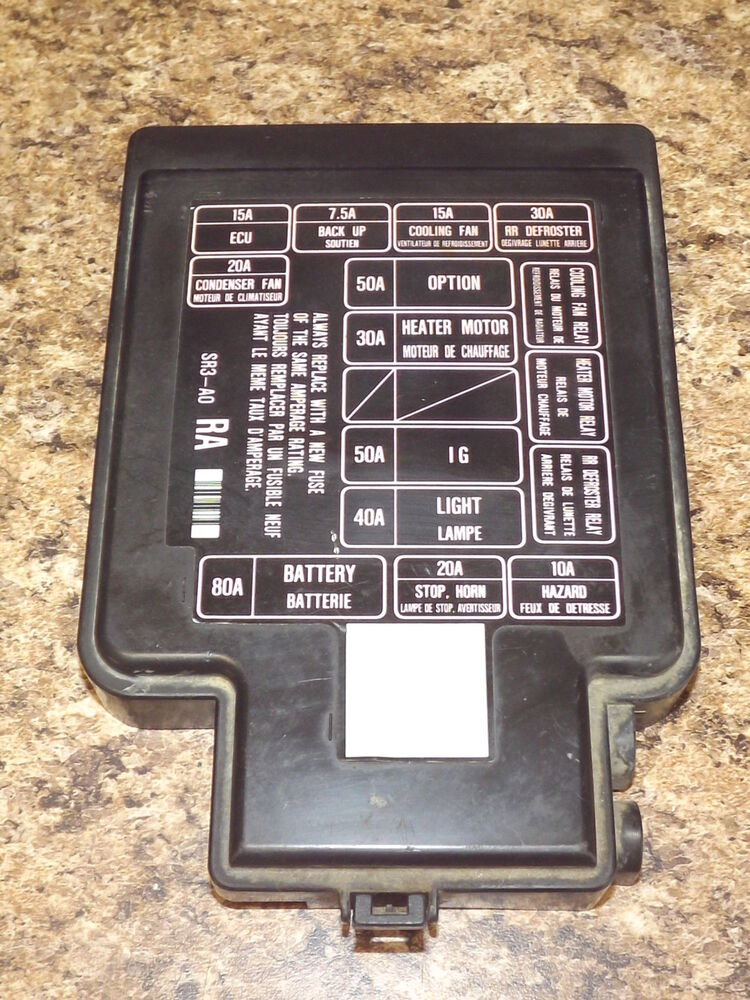 1993 Honda Civic Ex Fuse Box Diagram