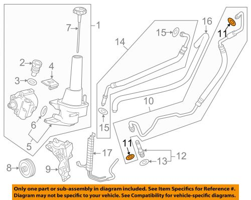 small resolution of details about gm oem power steering pump pressure line hose seal 26001594